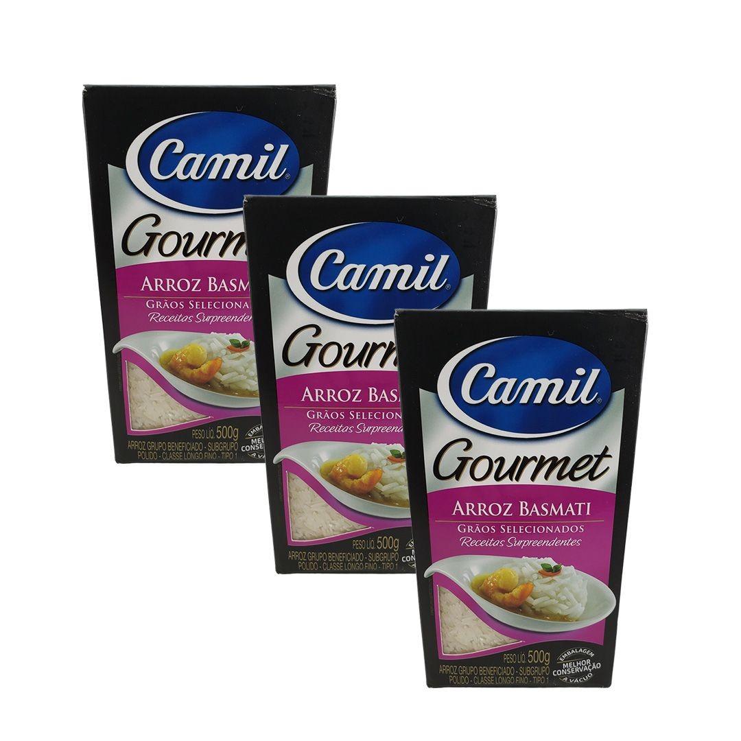 Arroz Basmati Gourmet Camil 500g Kit 3 unidades