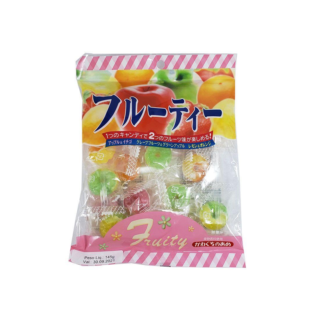 Bala de Frutas Kawaguchi Fruity 145g