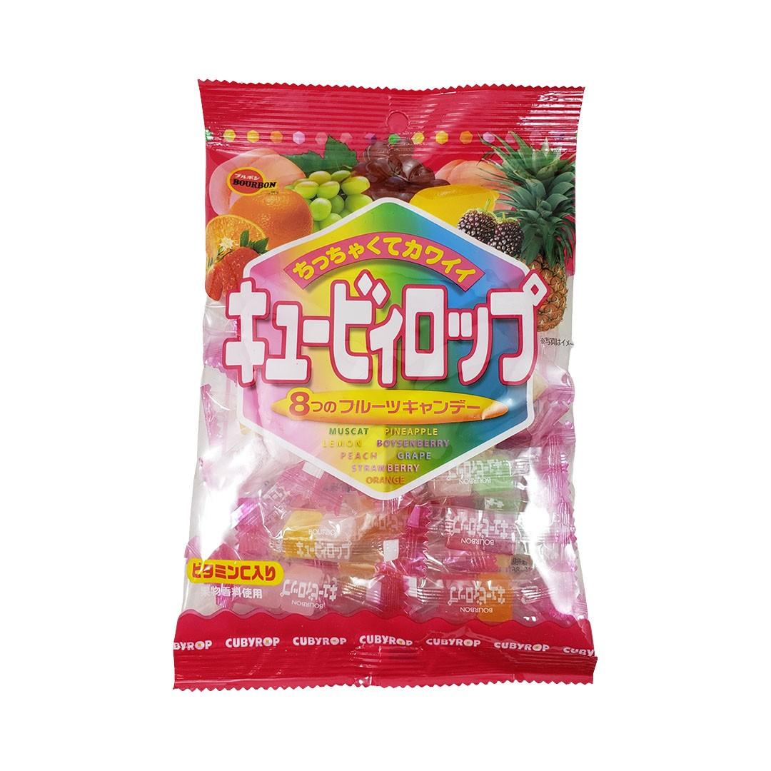 Bala de Frutas Sortidas Japonesa Bourbon Cub Rop Candy 112g