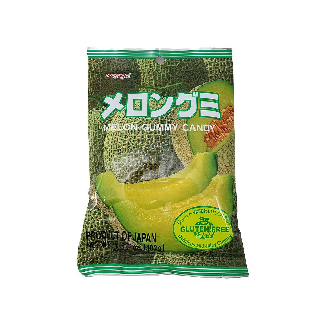Bala Gelatinosa Japonesa sabor Melão Kasugai Gummy Candy 102g