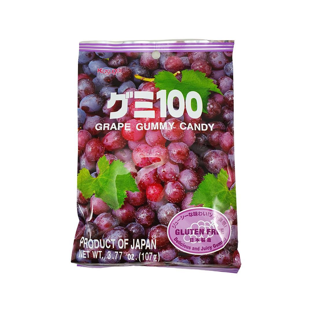Bala Gelatinosa Japonesa sabor Uva Kasugai Gummy Candy 107g