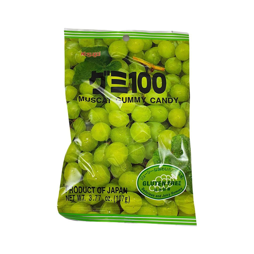 Bala Gelatinosa Japonesa sabor Uva Verde Kasugai Gummy Candy 107g