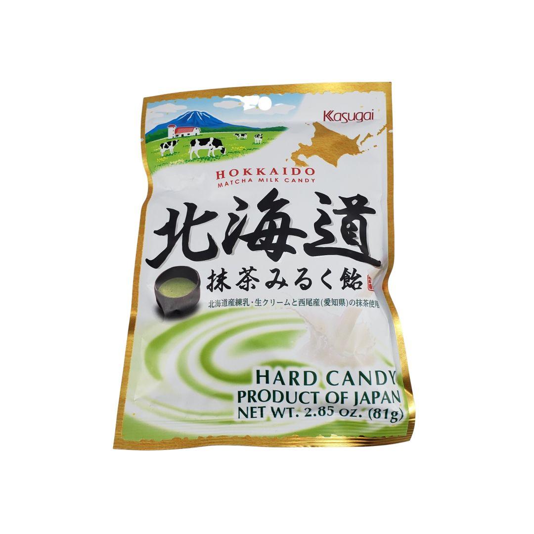 Bala de Leite sabor Chá Verde Matcha Hokkaido Kasugai 81g