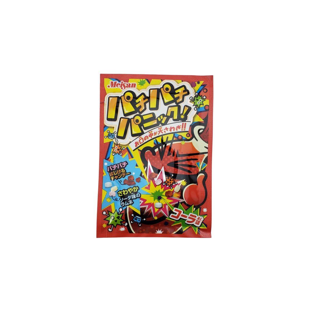 Bala Explosiva sabor Cola Pachi Pachi Panic Cola Candy Meisan 5g