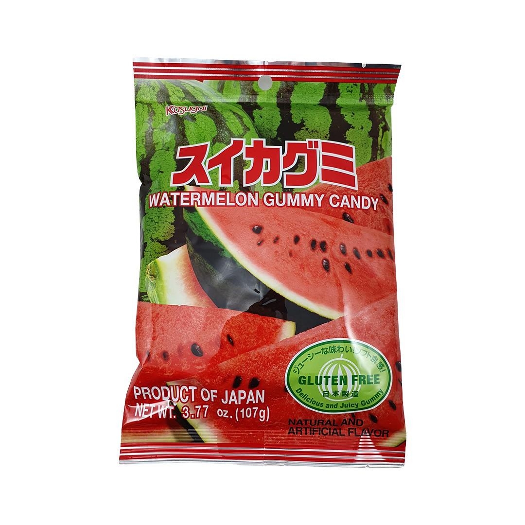 Bala Gelatinosa Japonesa sabor Melancia Kasugai Gummy Candy 107g