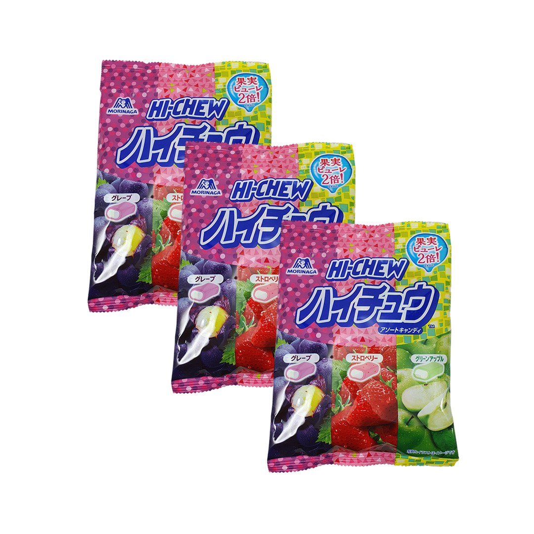 Bala Japonesas de Frutas Morinaga Hi Chew Candy 3 unidades