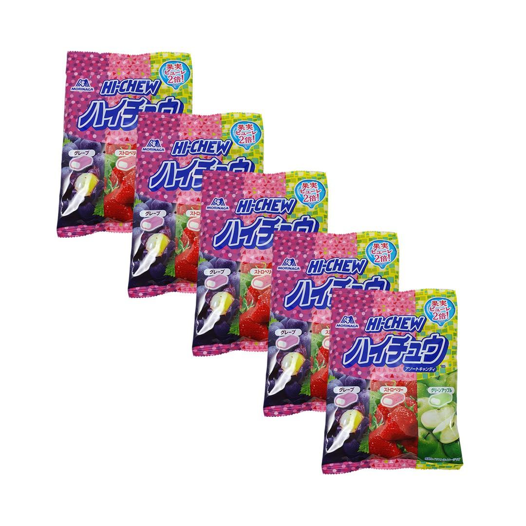 Bala Japonesas de Frutas Morinaga Hi Chew Candy 5 unidades