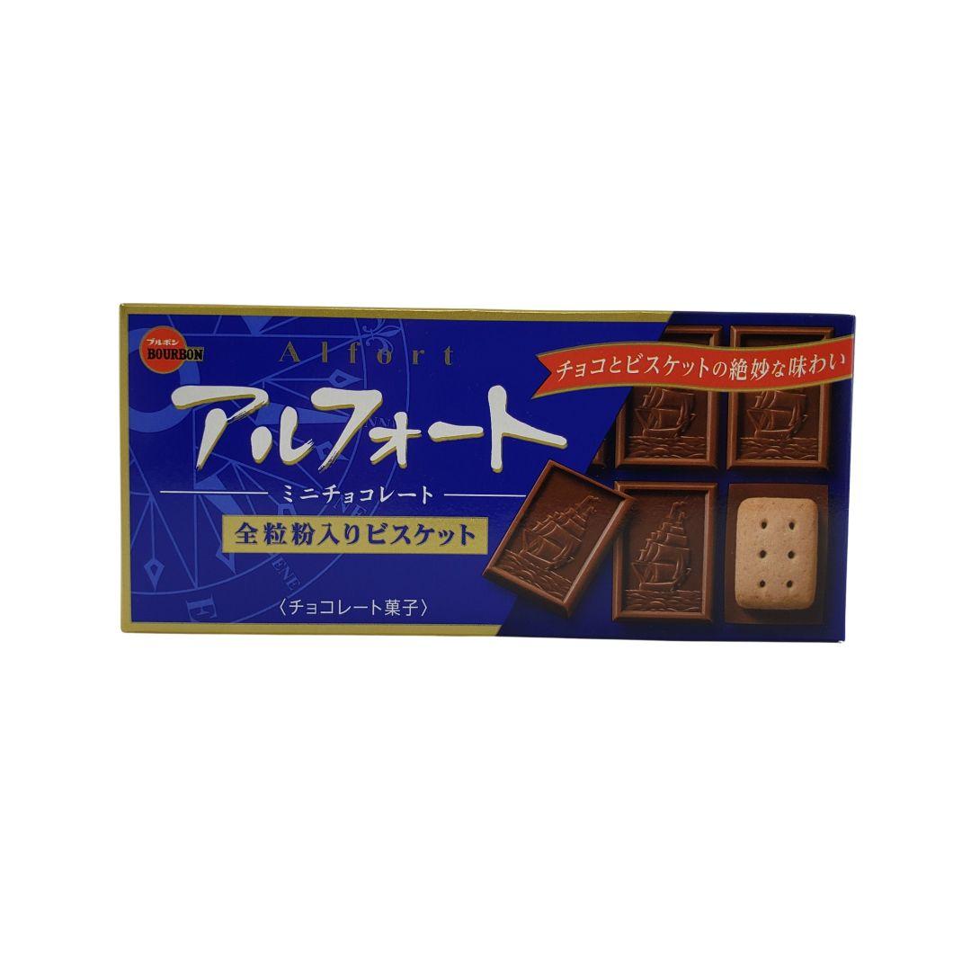 Biscoito com Chocolate Japonês Bourbon Alfort Cookie 59g
