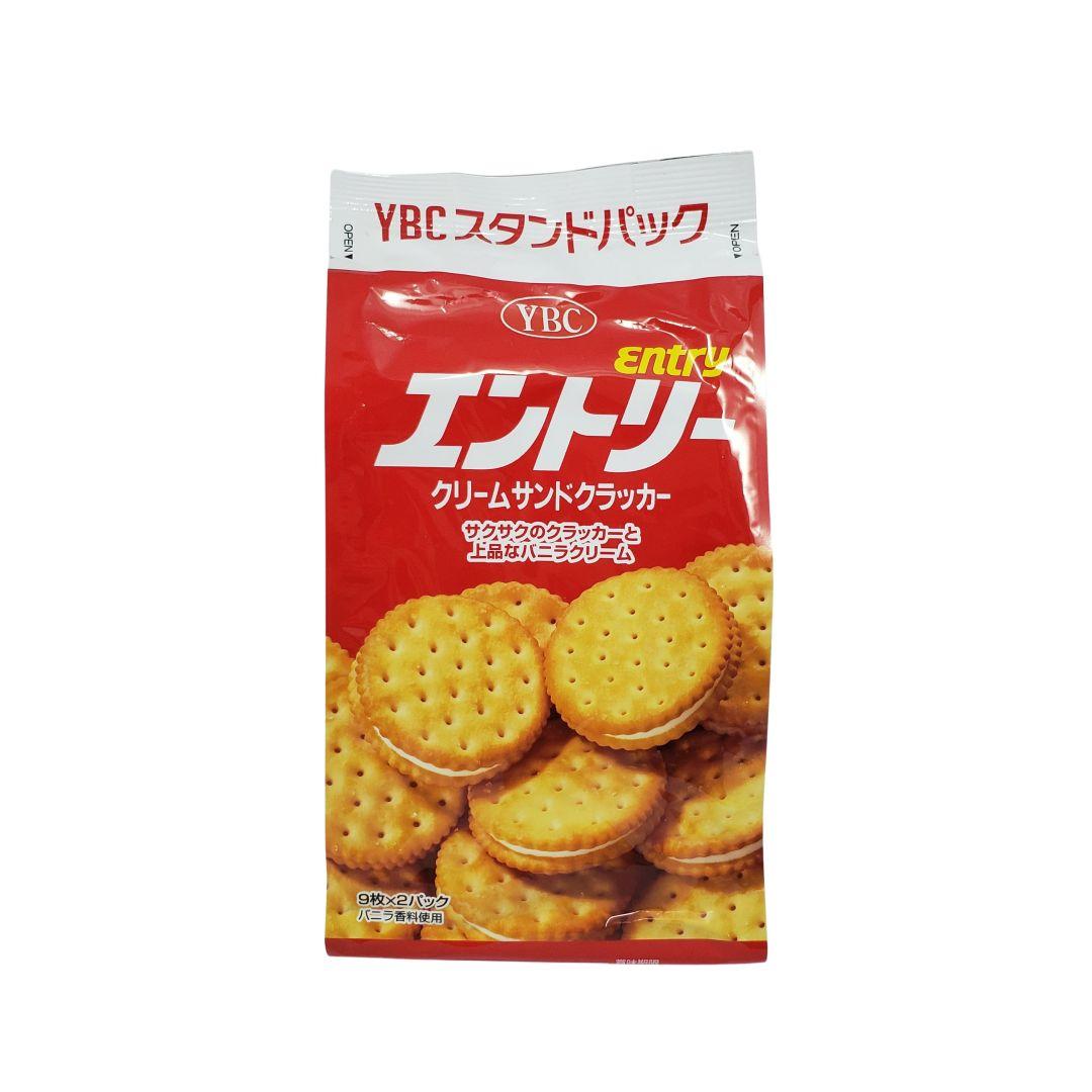 Biscoito com recheio de baunilha japonês YBC 148g