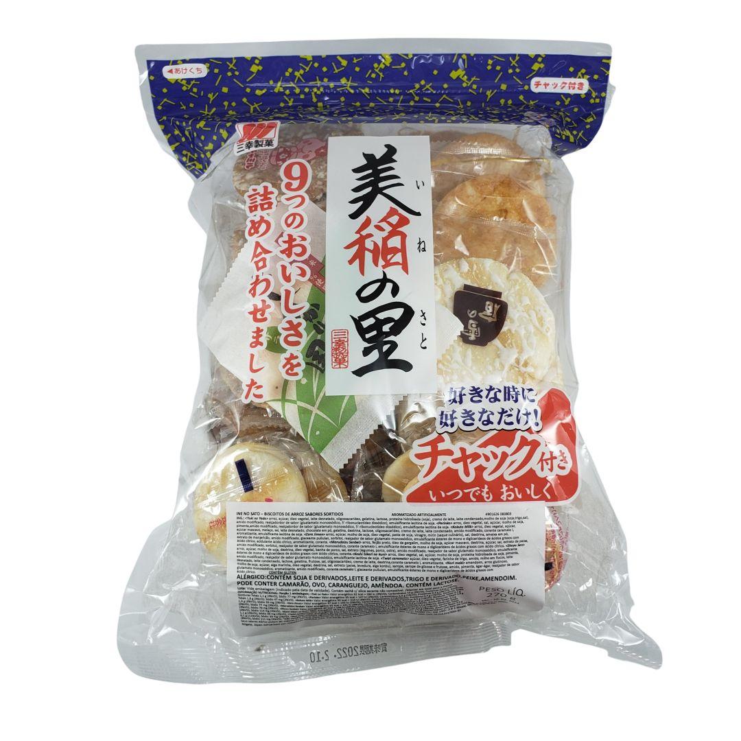 Biscoito de Arroz Japonês Sabores Sortidos Ine no Sato Sanko 270g