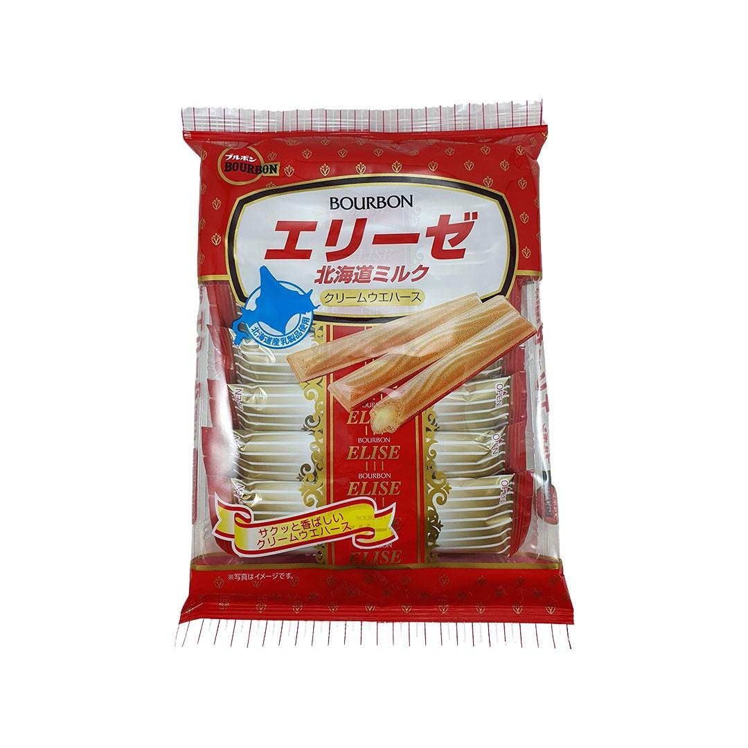 Biscoito Japonês com Recheio de Creme Elise Hokkaido Milk Bourbon 57g