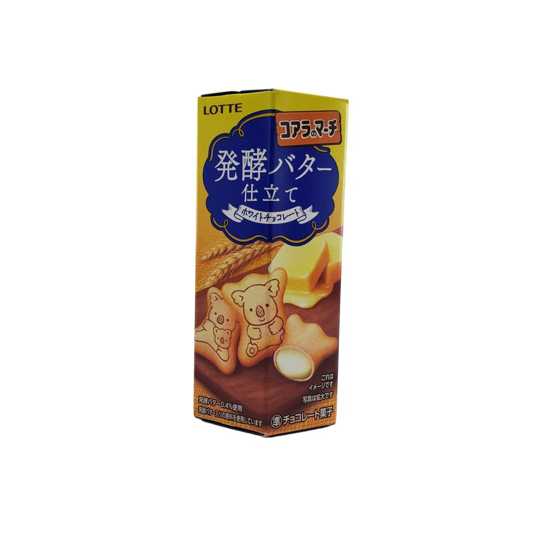 Biscoito Koala no Machi Lotte Chocolate Branco Japonês Hakko Butter 50g