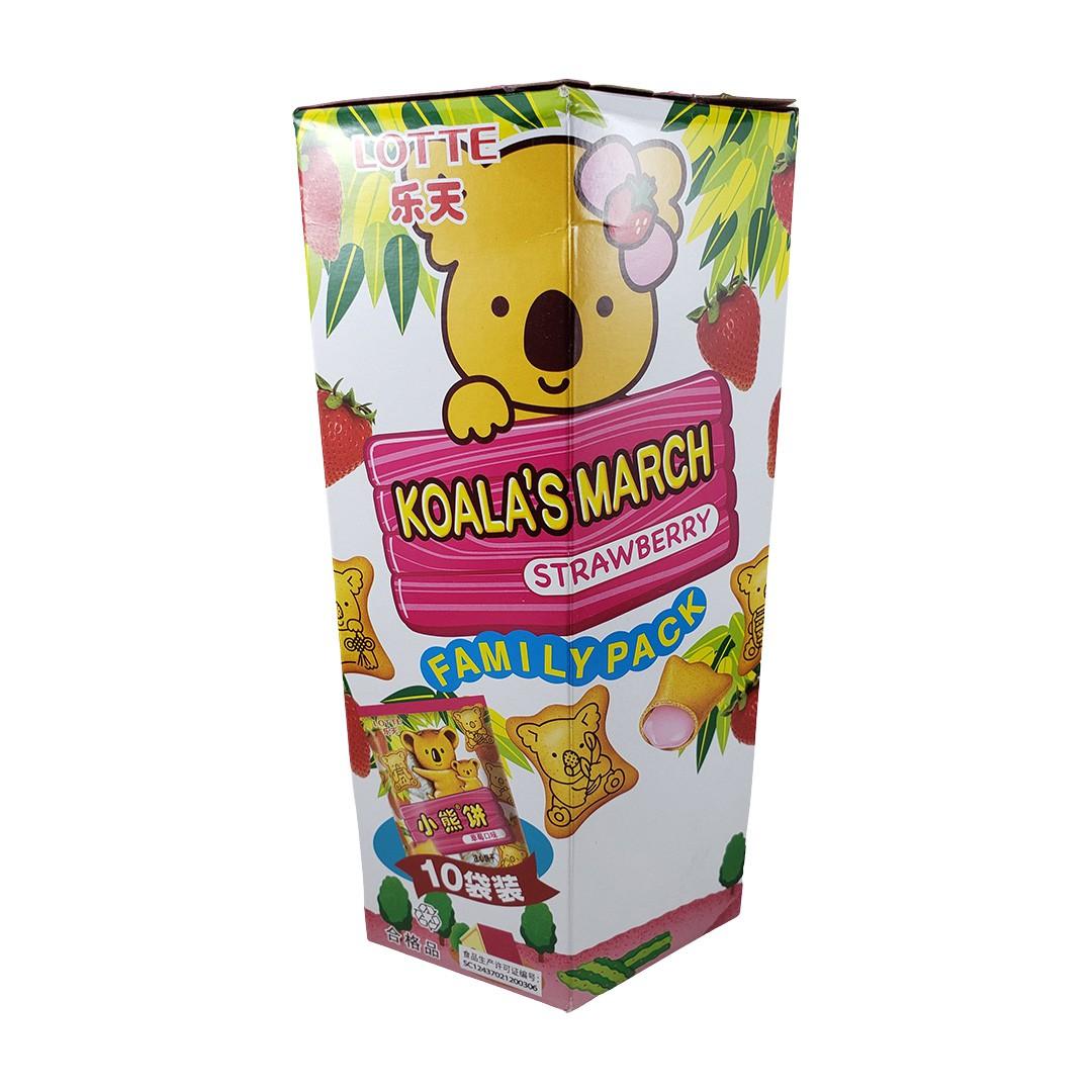 Biscoito Koala no Machi Lotte Morango 10 Pacotes 168g
