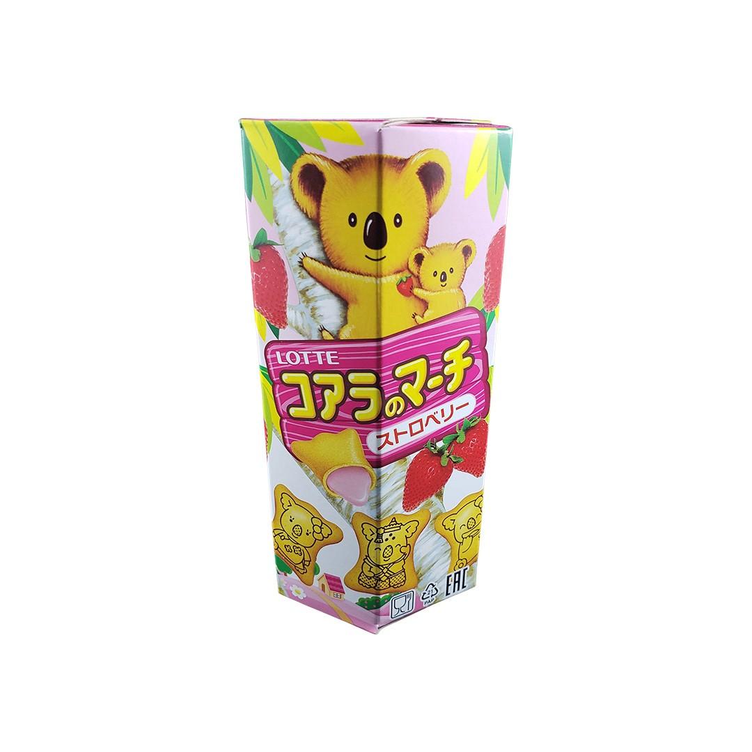 Biscoito Koala no Machi Lotte Morango 37g