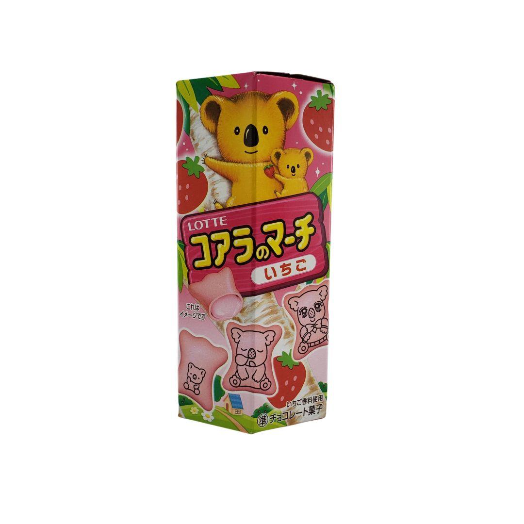 Biscoito Koala no Machi Lotte Morango Japonês 48g
