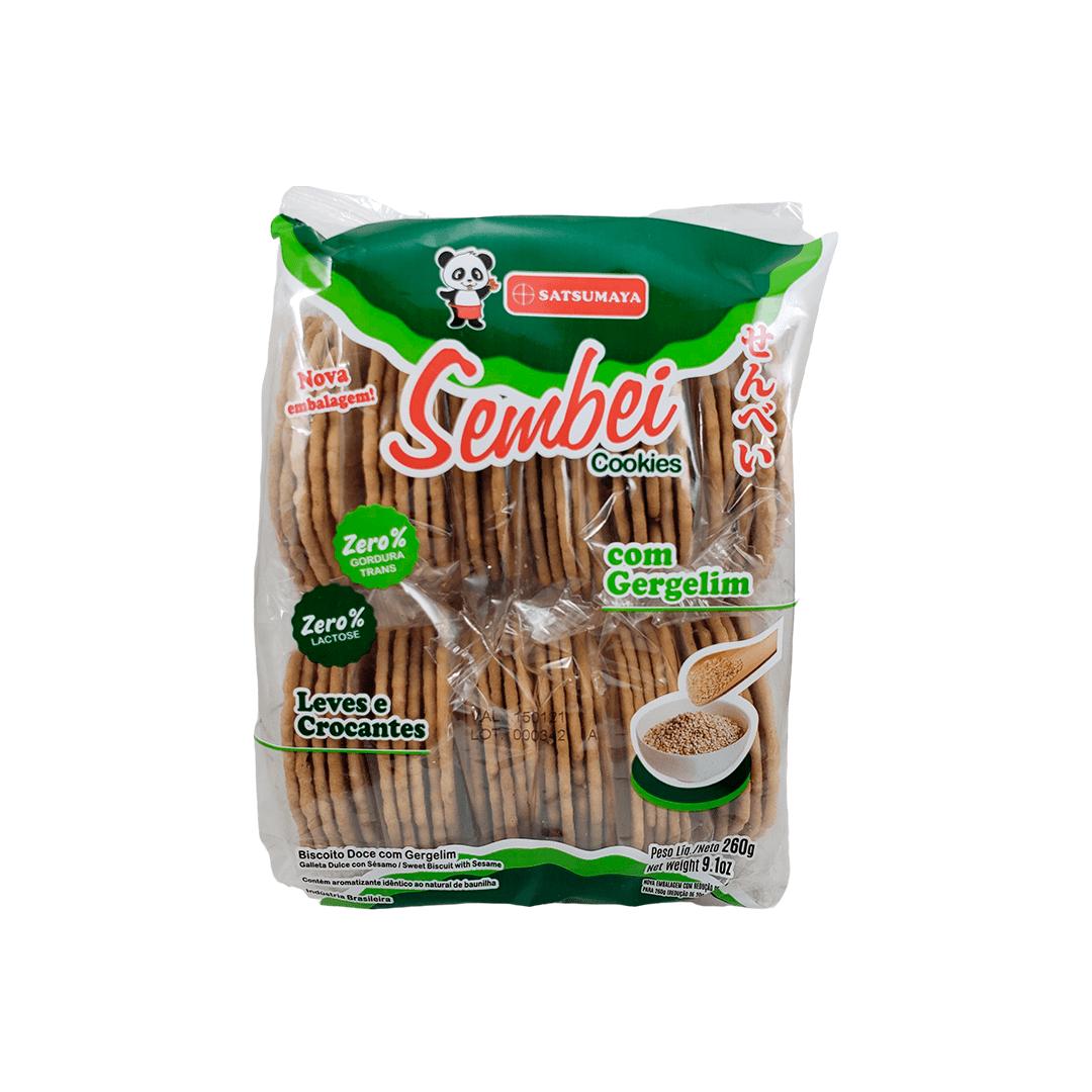 Biscoito Sembei Cookies sabor Gergelim Satsumaya 260g