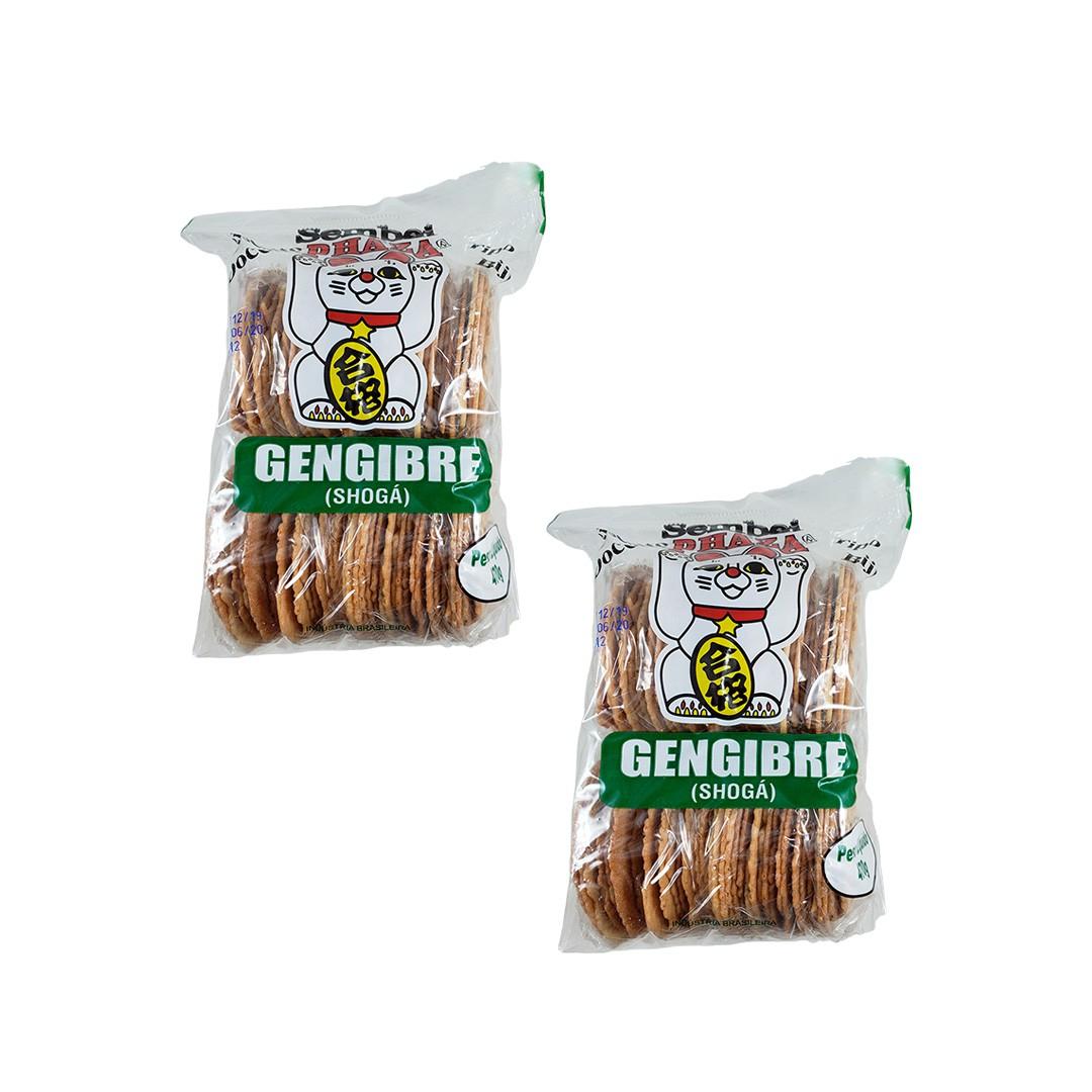 Biscoito Sembei Gengibre Phaza 470g 2 unidades