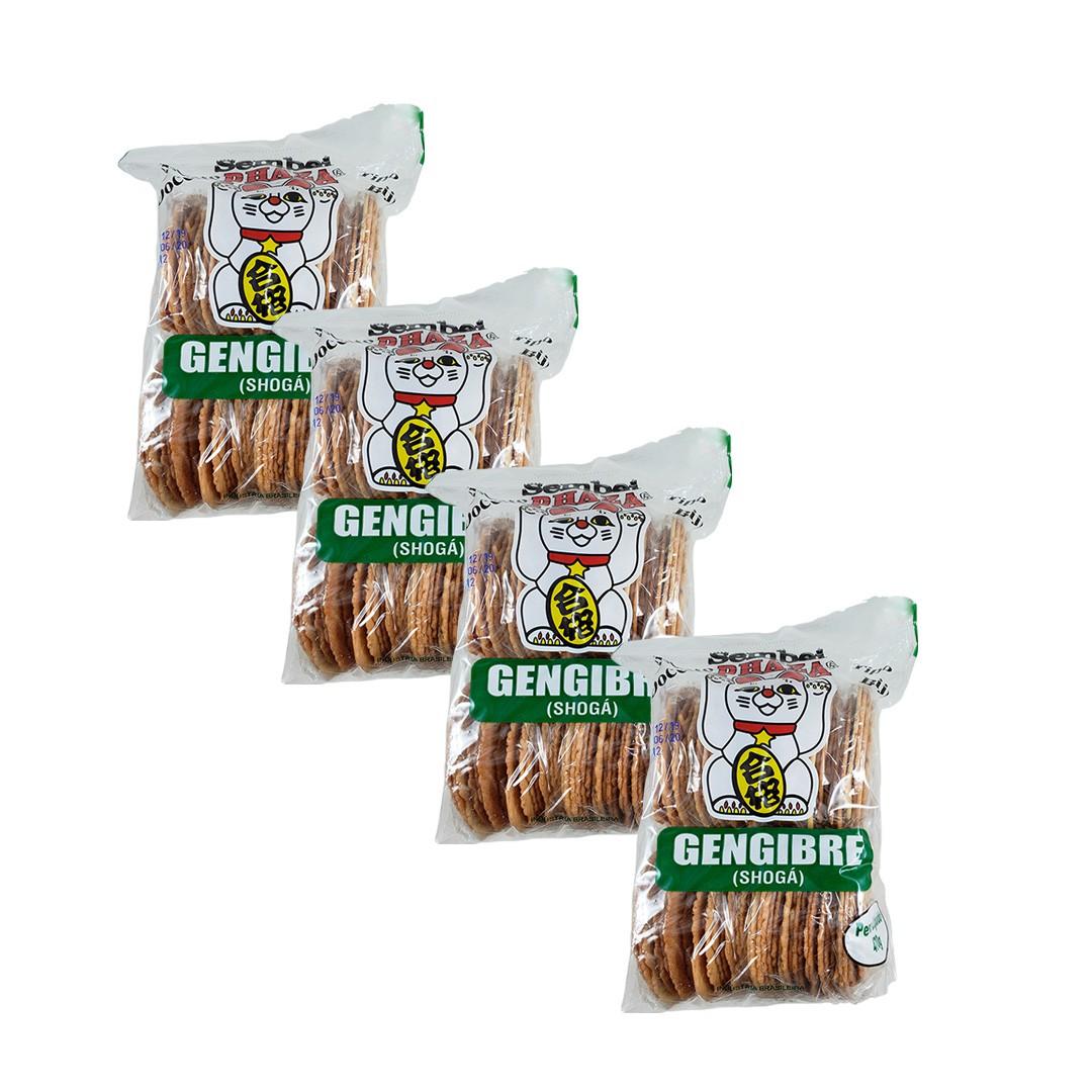Biscoito Sembei Gengibre Phaza 470g 4 unidades