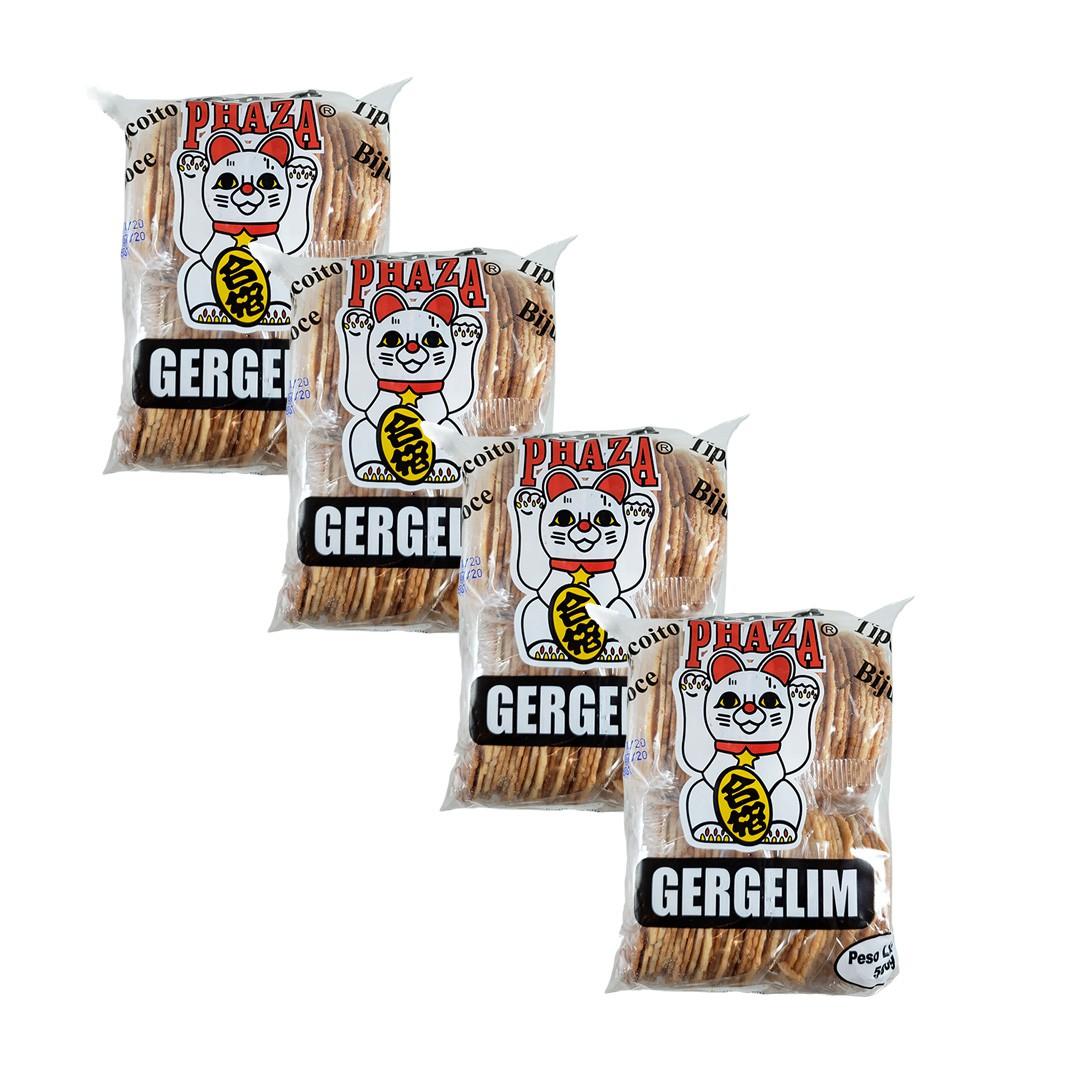 Biscoito Sembei Gergelim Phaza 500g 4 unidades