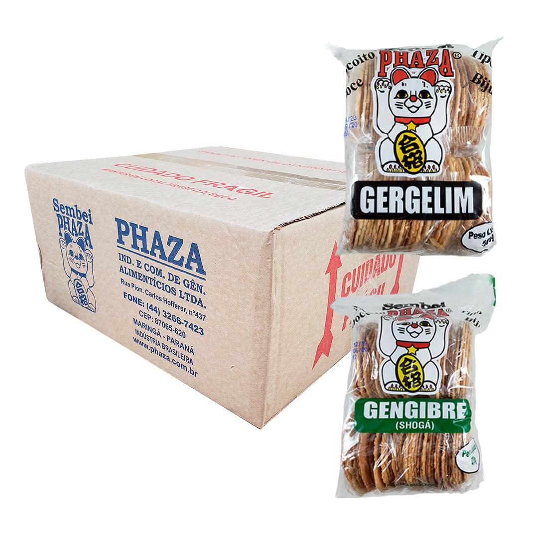 Biscoito Sembei Phaza Misto 12 unidades