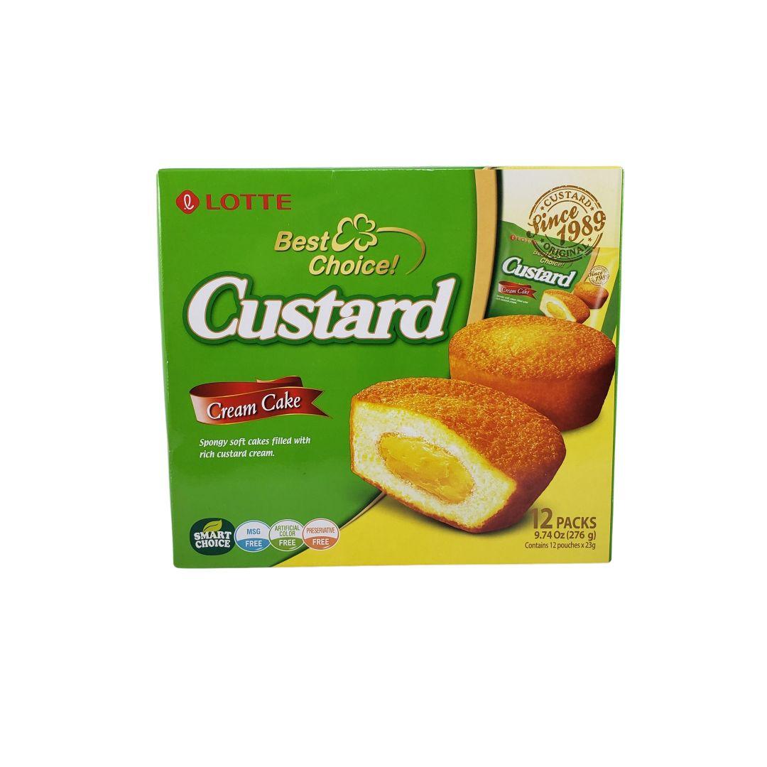 Bolo de Creme Custard Lotte 276g - 12 unidades