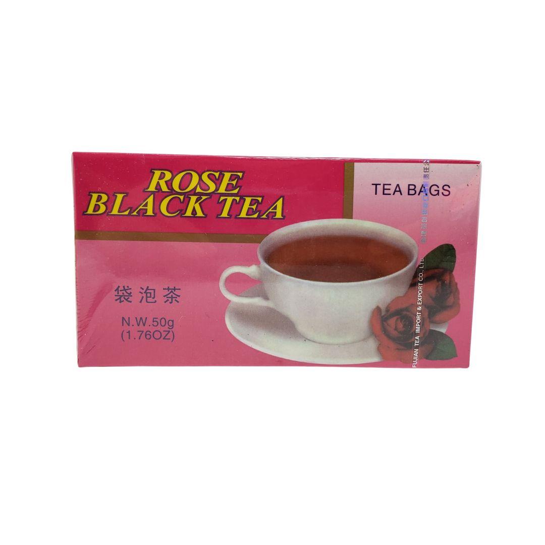Chá Preto com Aroma de Rosas Importado Fujian 25 Sachês
