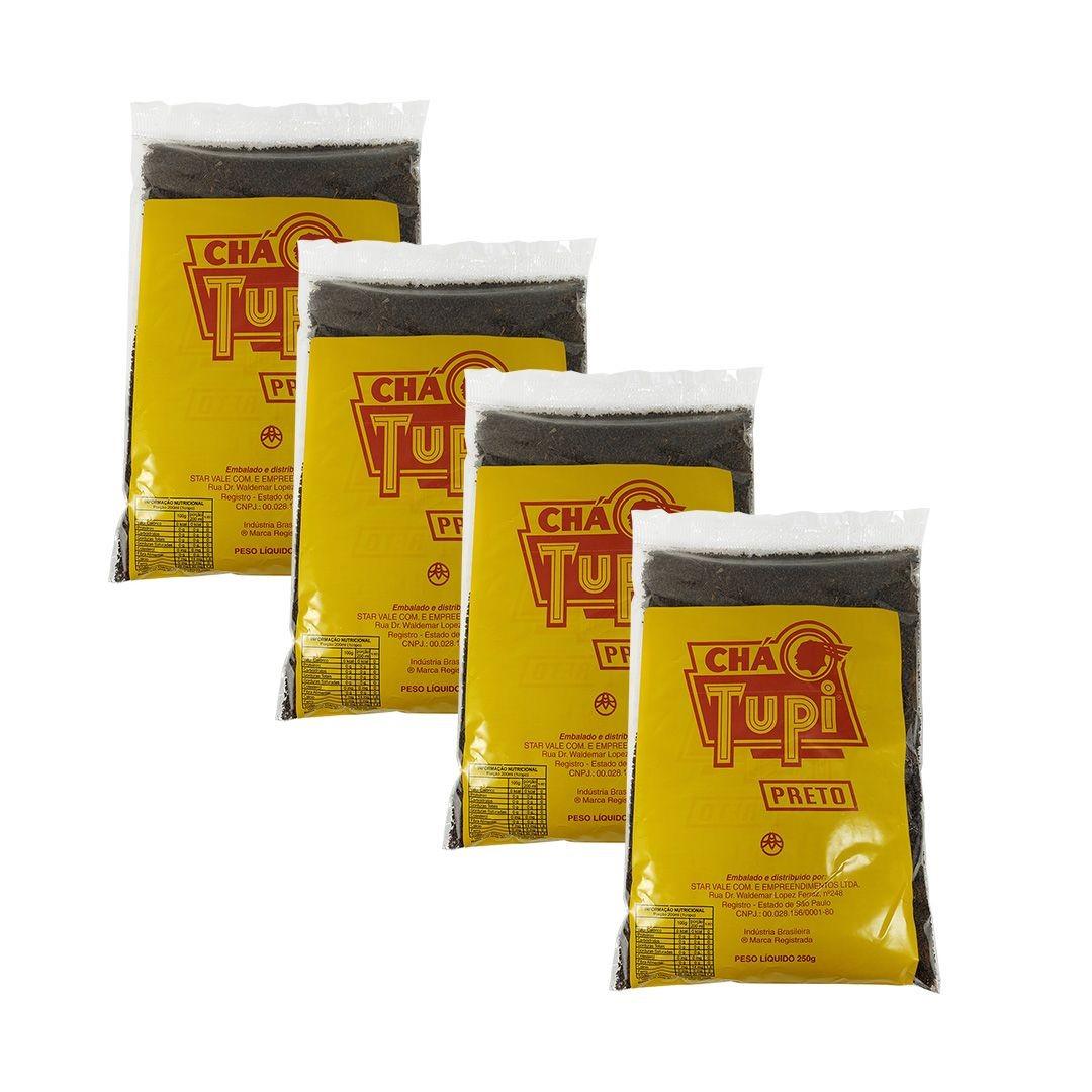 Chá Preto Tupi 250g Kit 4 unidades