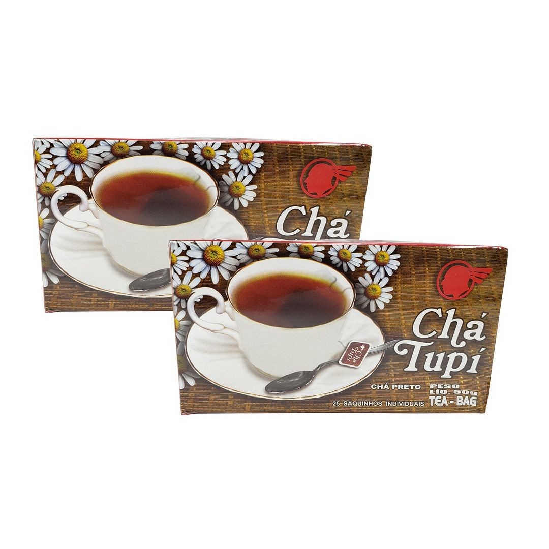 Chá Preto Tupi 25 Sachês 50g Kit 2 Unidades