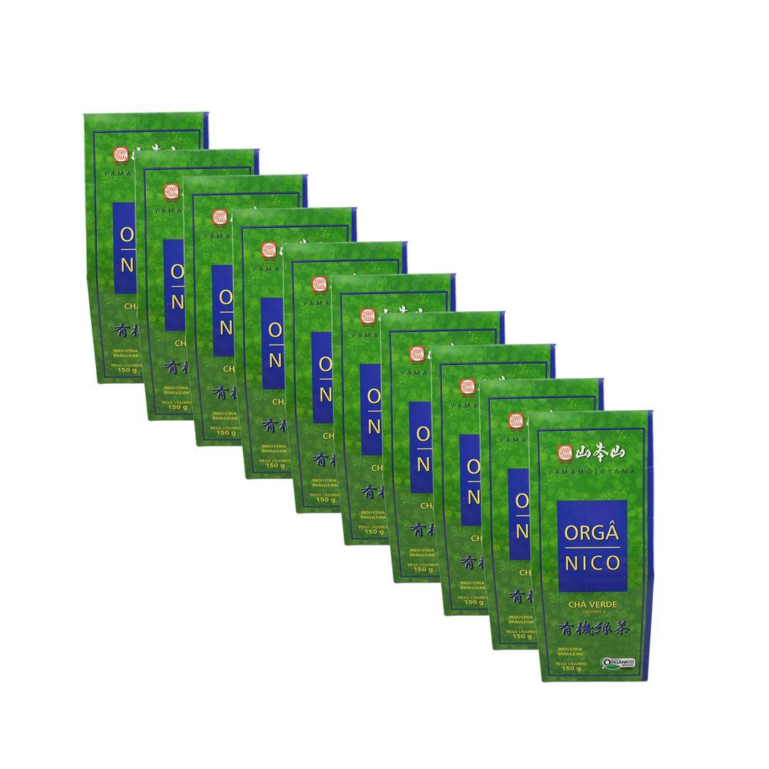 Chá Verde Orgânico Yamamotoyama 150g Kit 10 unidades