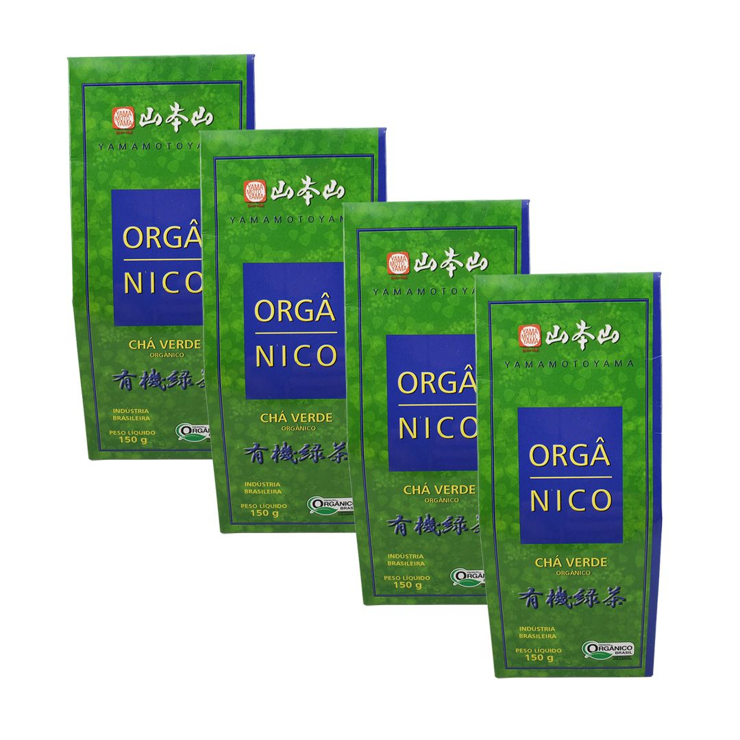 Chá Verde Orgânico Yamamotoyama 150g Kit 4 unidades