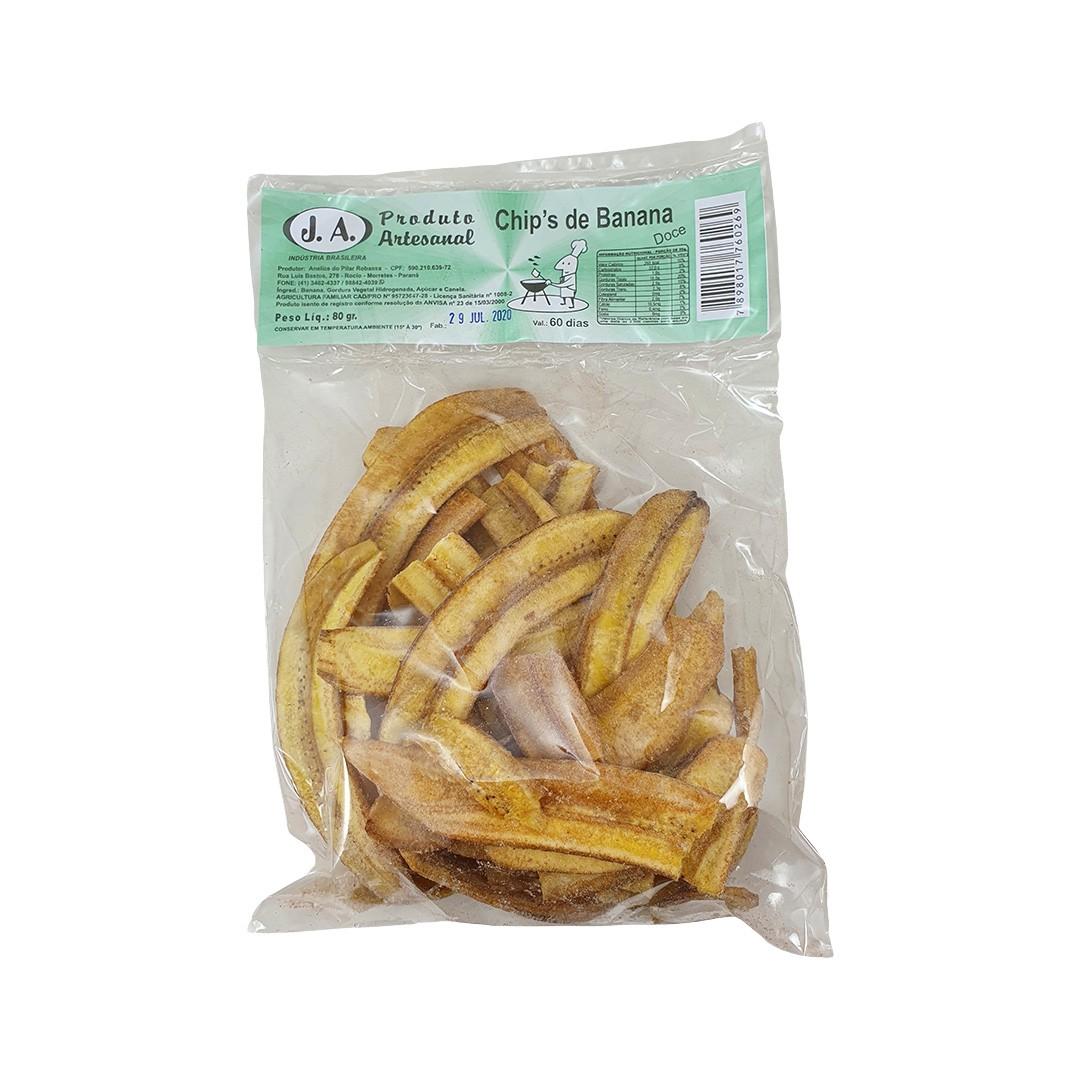Chips de Banana Doce 80g