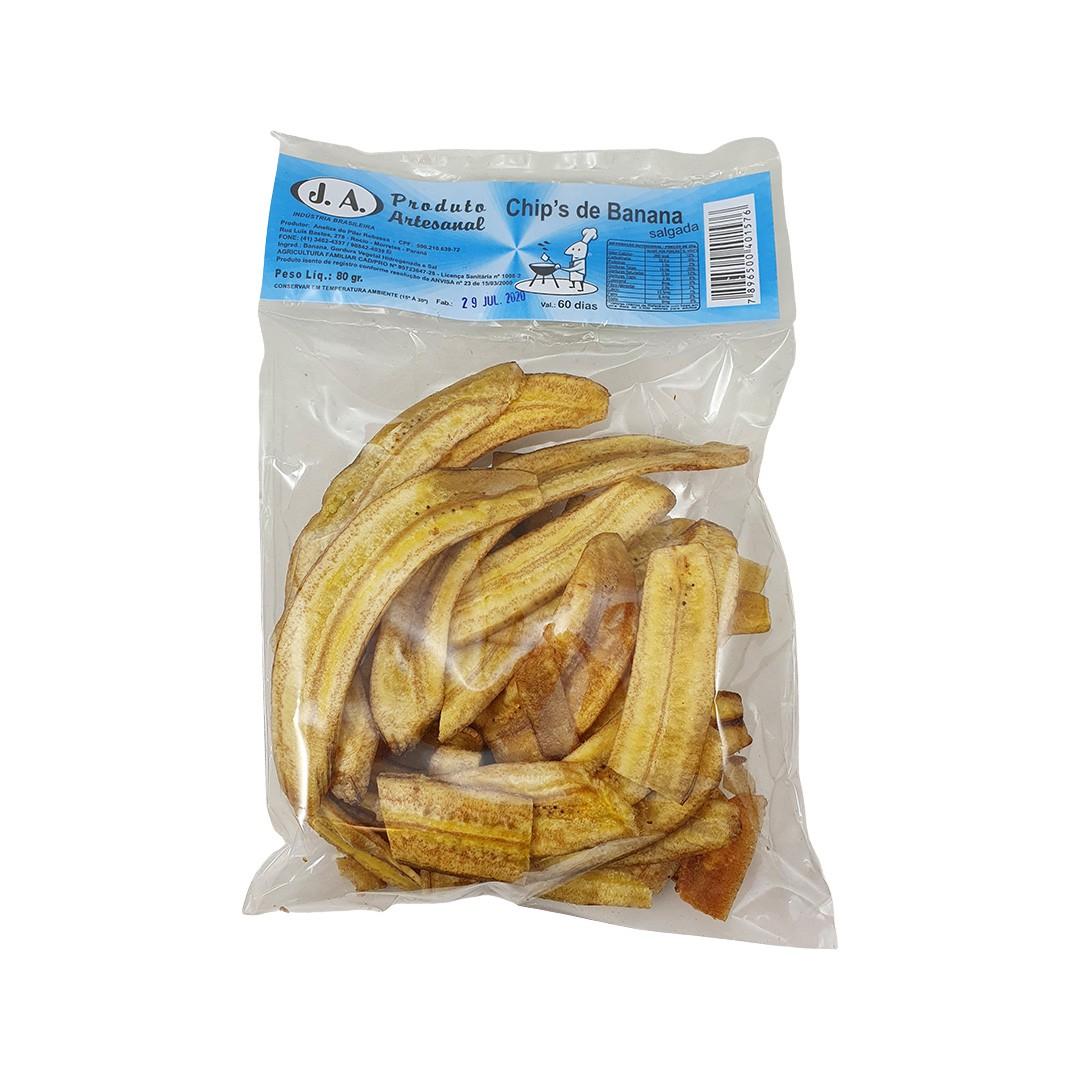 Chips de Banana Salgada 80g