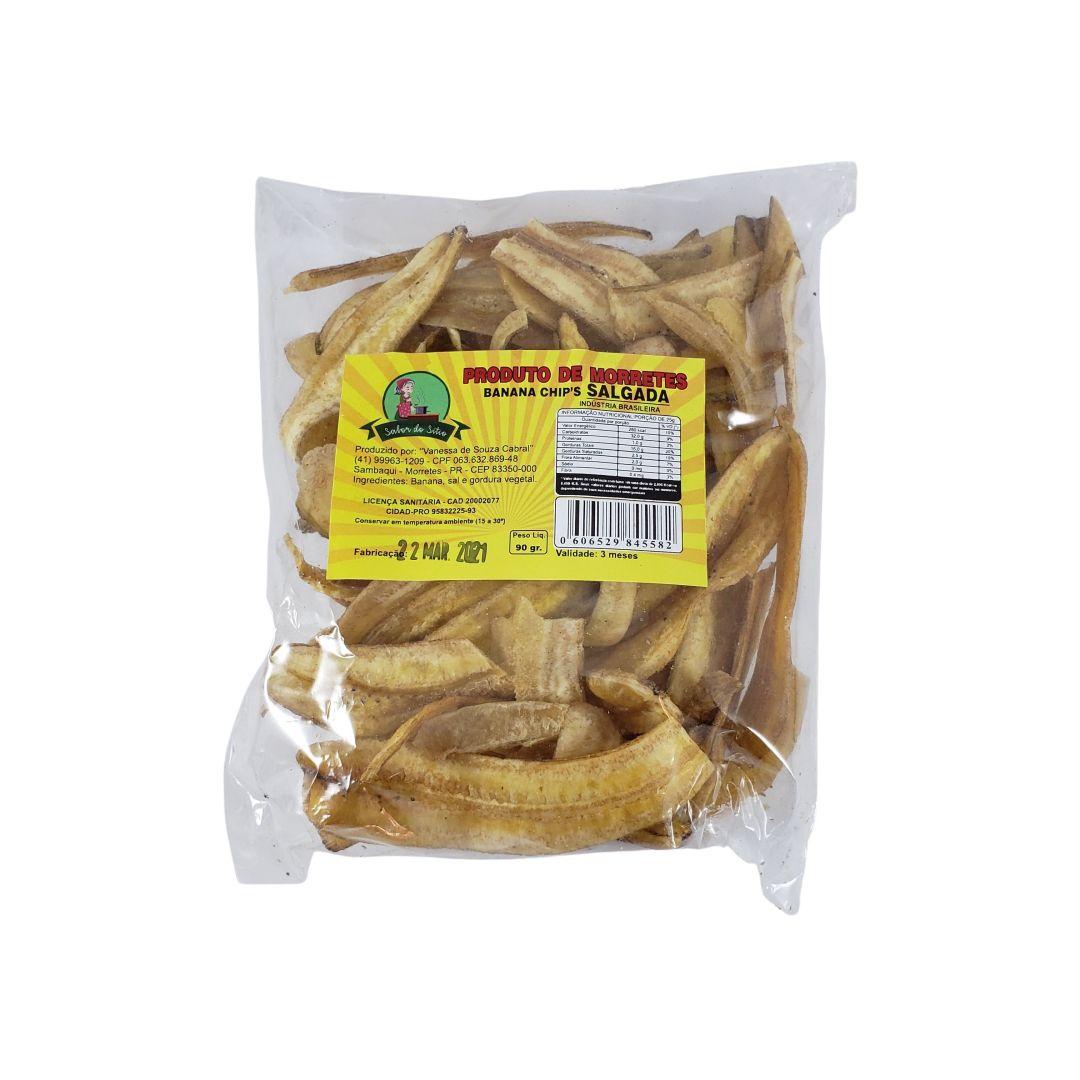 Chips de Banana Salgada Sabor do Sítio 90g
