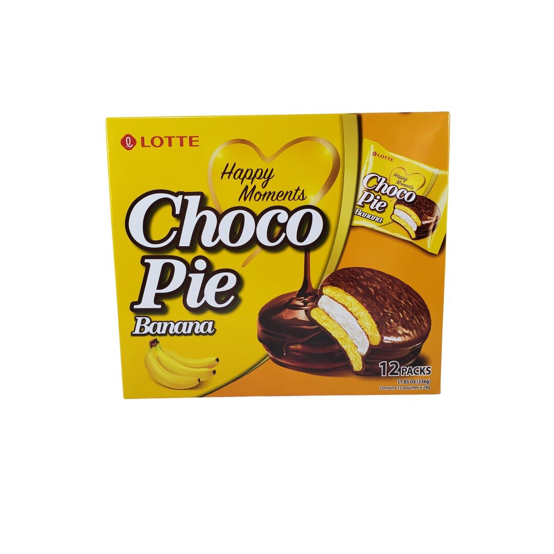 Choco Pie Banana Lotte 336g - 12 unidades