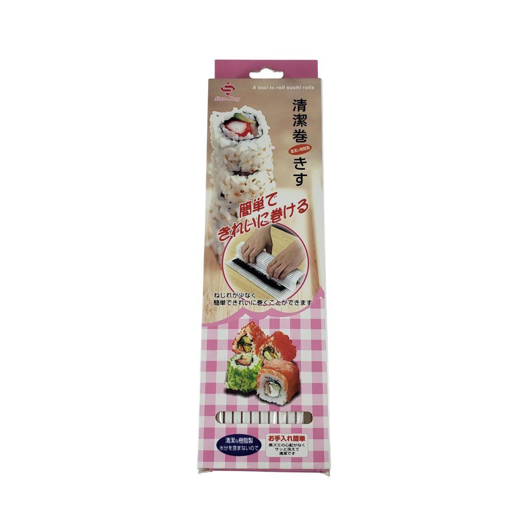 Esteira para Sushi de Plástico formato Quadrado 24cm Shun Kang