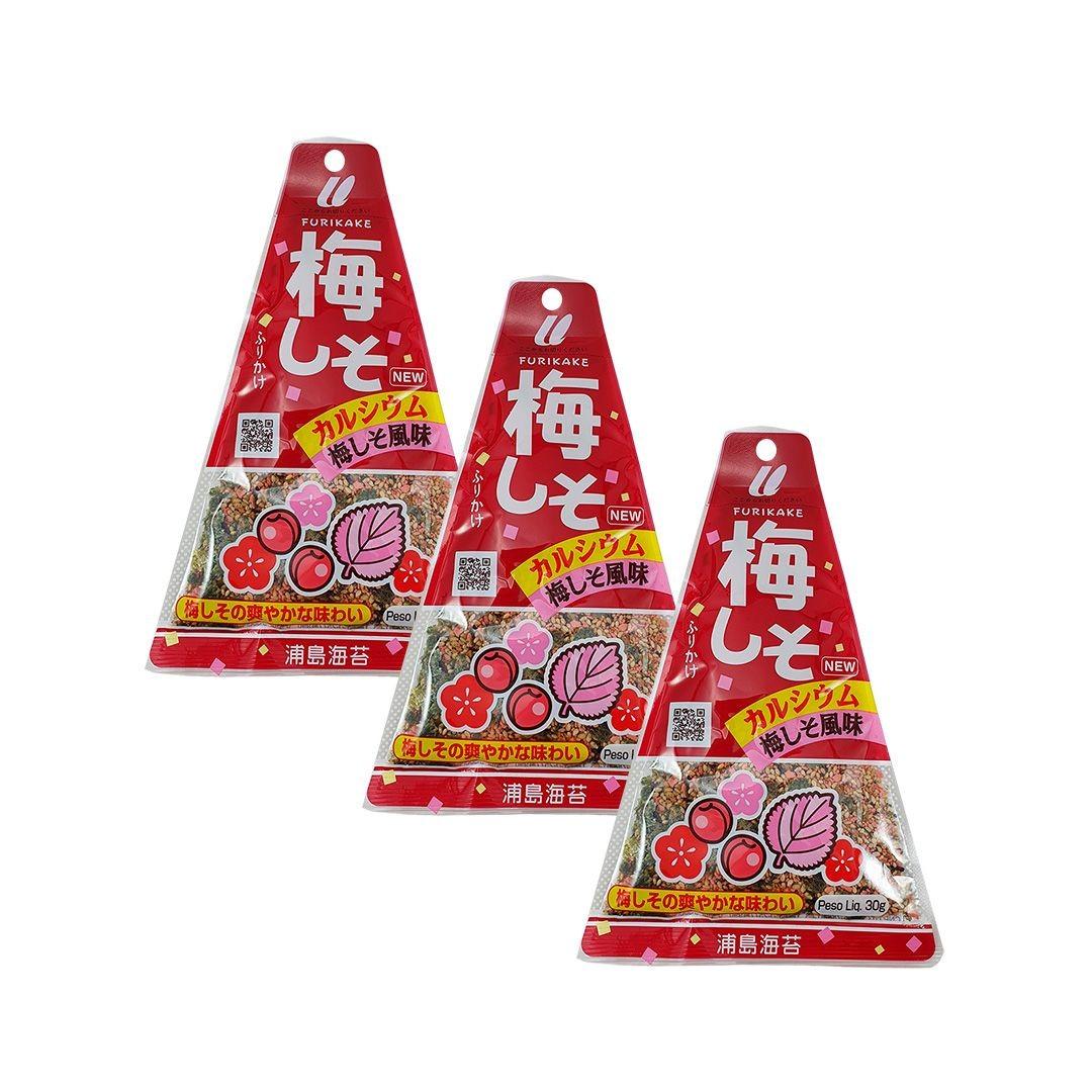 Furikake sabor Ameixa Ume e Shiso Urashima 3 pacotes