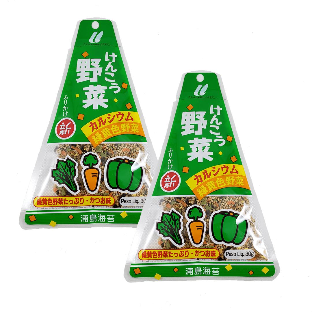 Furikake sabor Legumes Urashima 2 pacotes