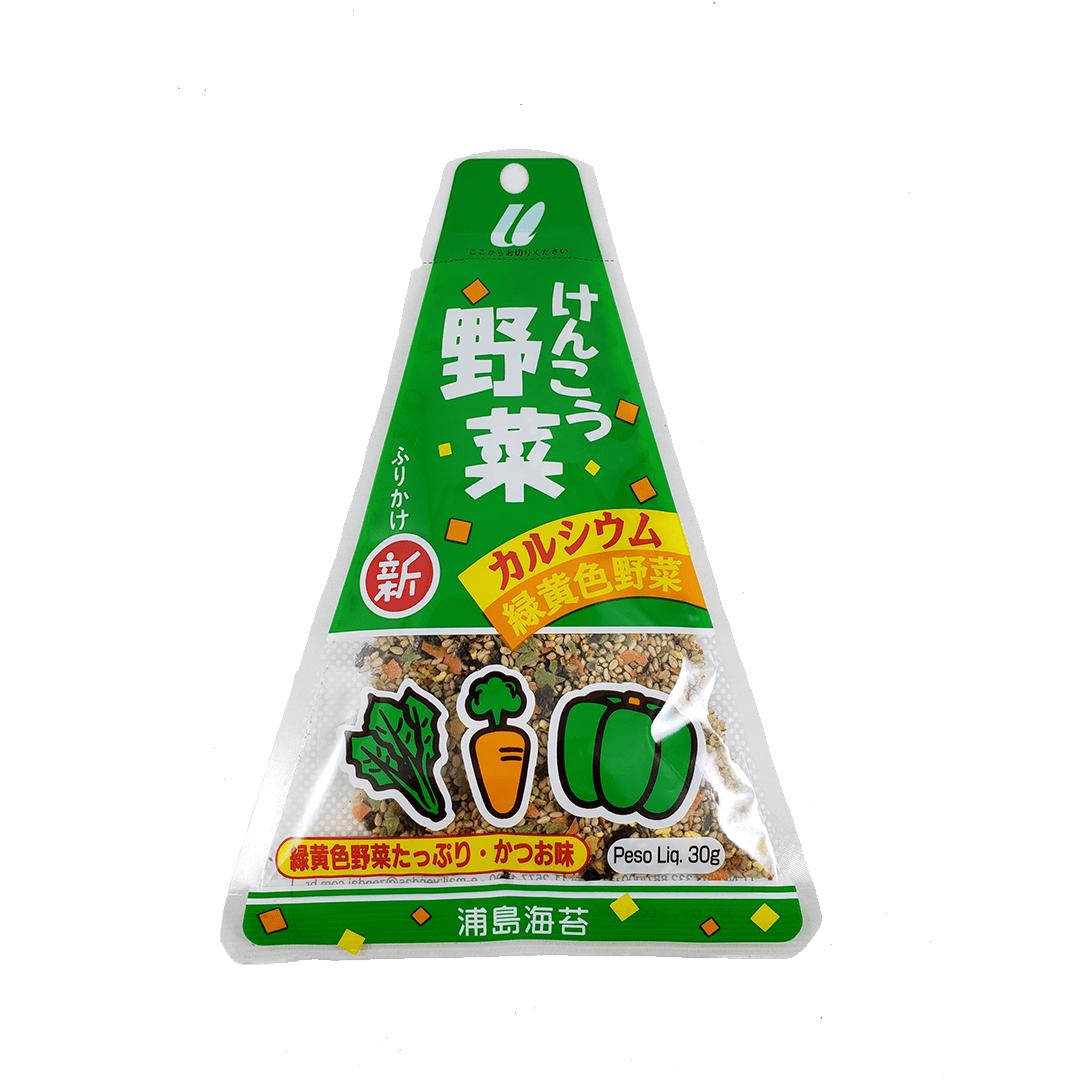 Furikake Tempero Arroz Japonês sabor Legumes Kenko Yasai Urashima 30g