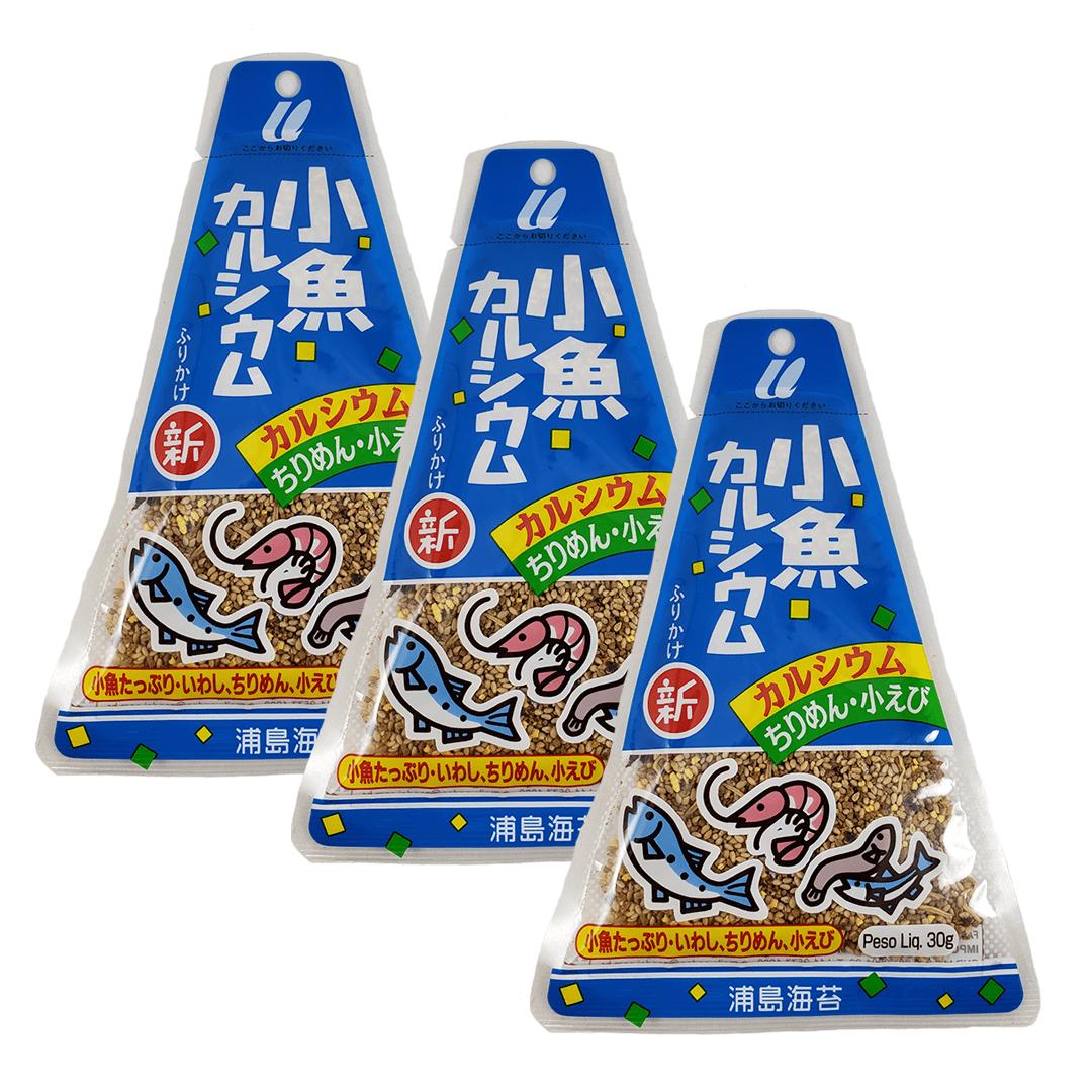 Furikake sabor Peixe e Camarão Urashima 3 pacotes