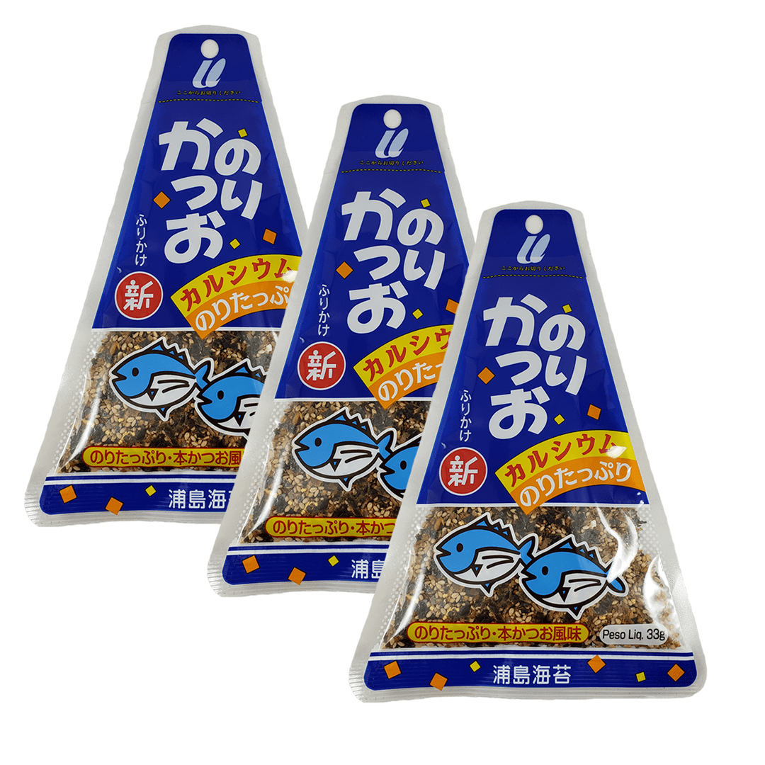 Furikake sabor Peixe e Nori Urashima 3 pacotes