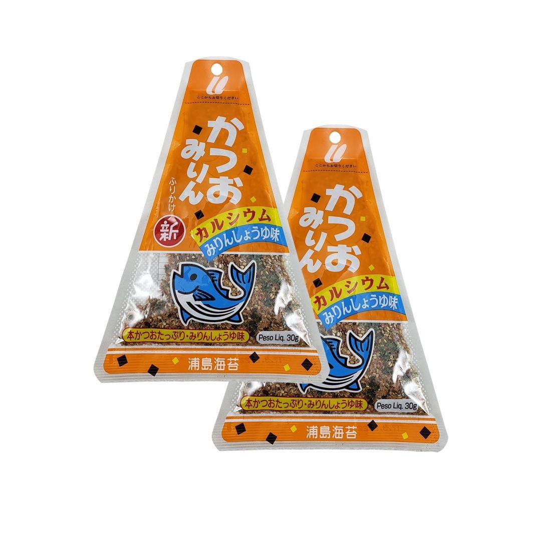 Furikake sabor Peixe Katsuomirin Urashima 2 pacotes