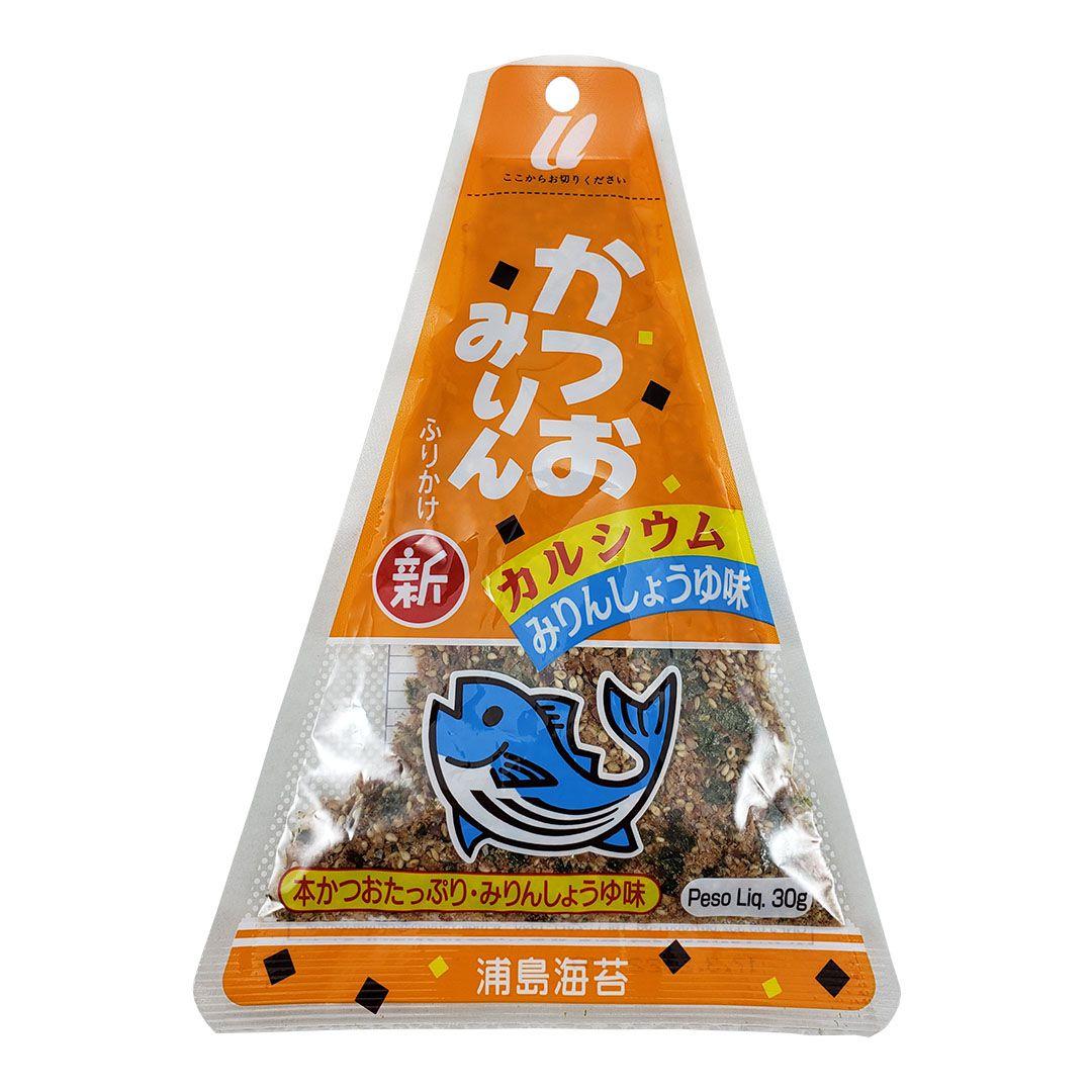 Furikake Tempero Arroz Japonês sabor Peixe Katsuomirin Urashima 30g