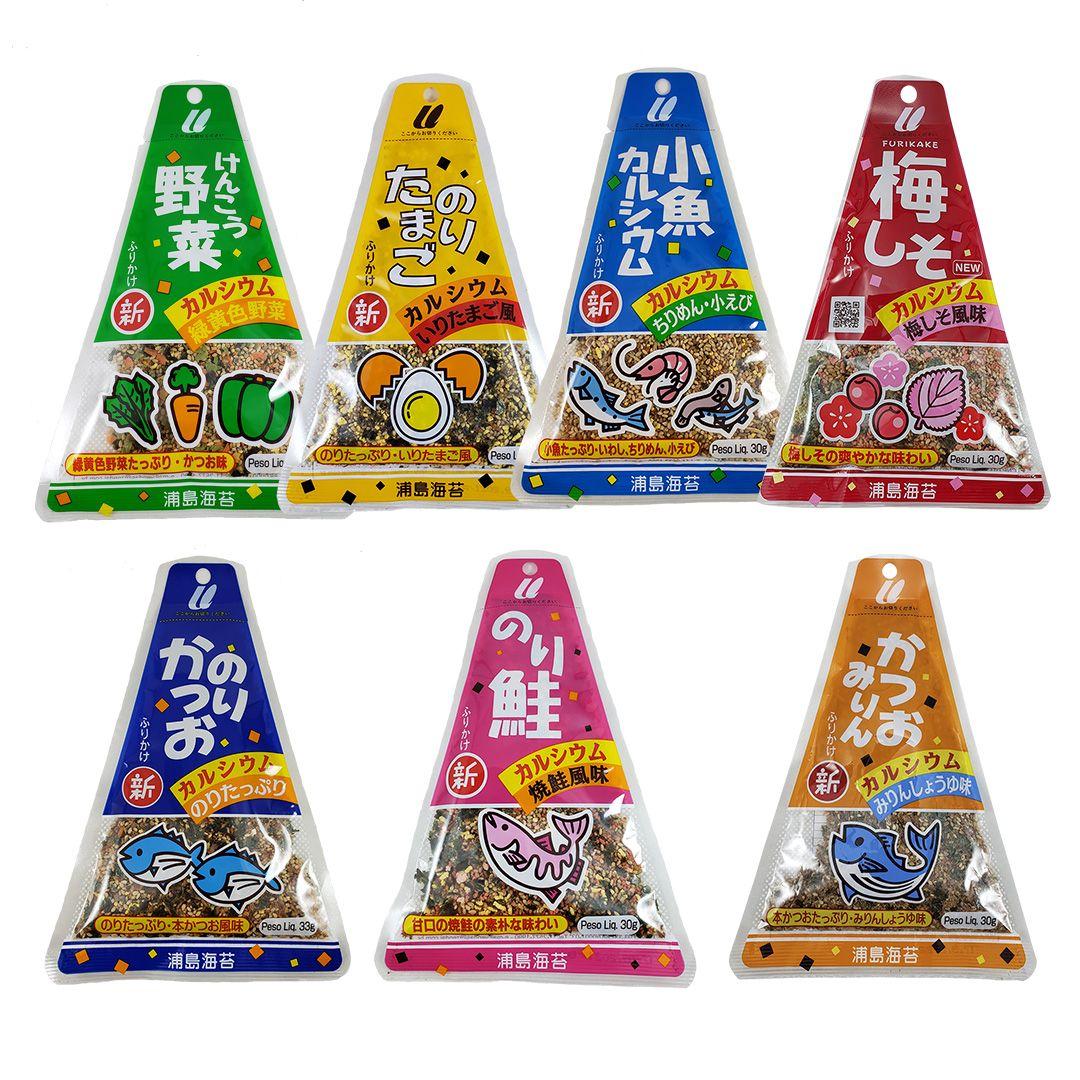 Furikake Tempero Arroz Japonês Sortidos 7 sabores