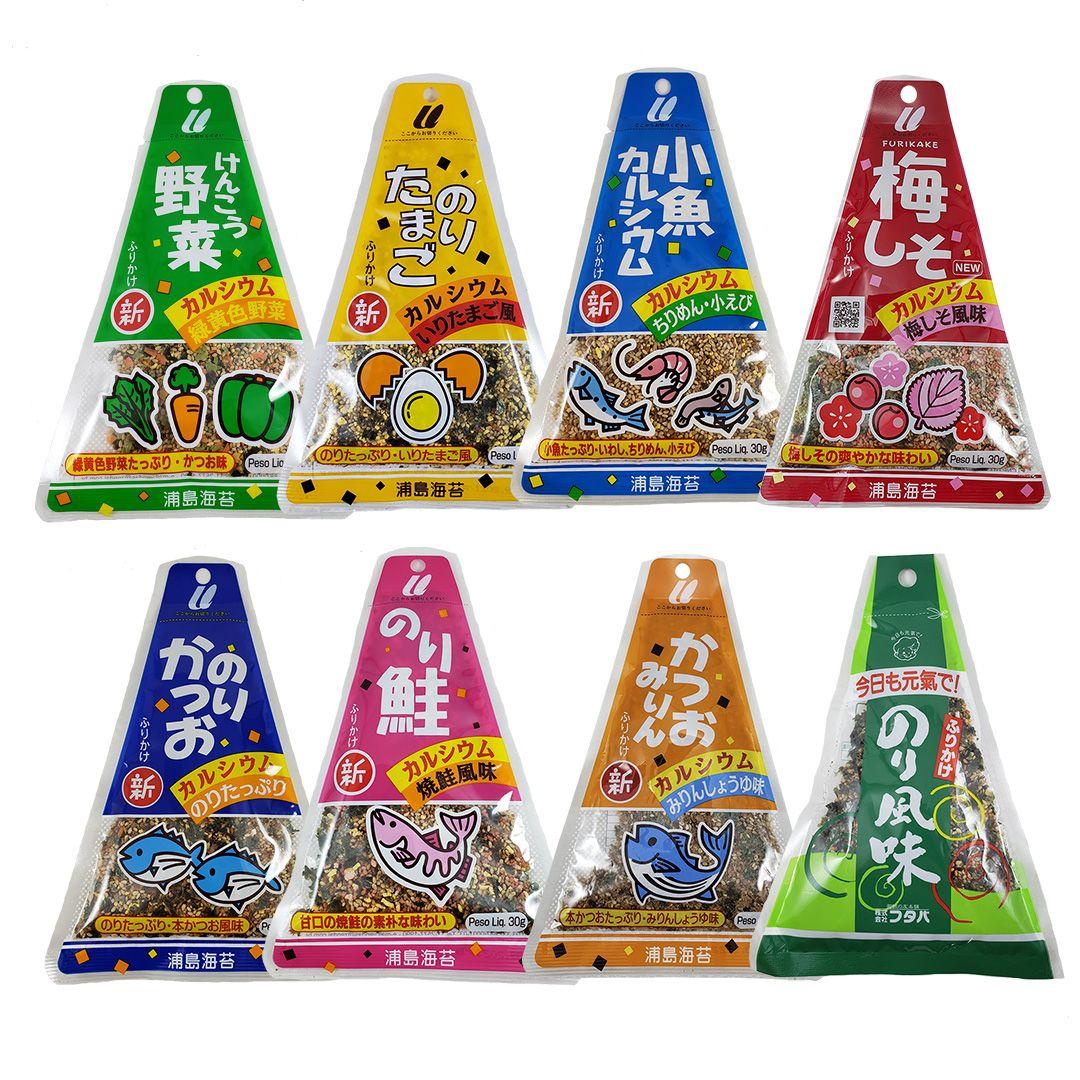 Furikake Tempero Arroz Japonês Sortidos 8 sabores