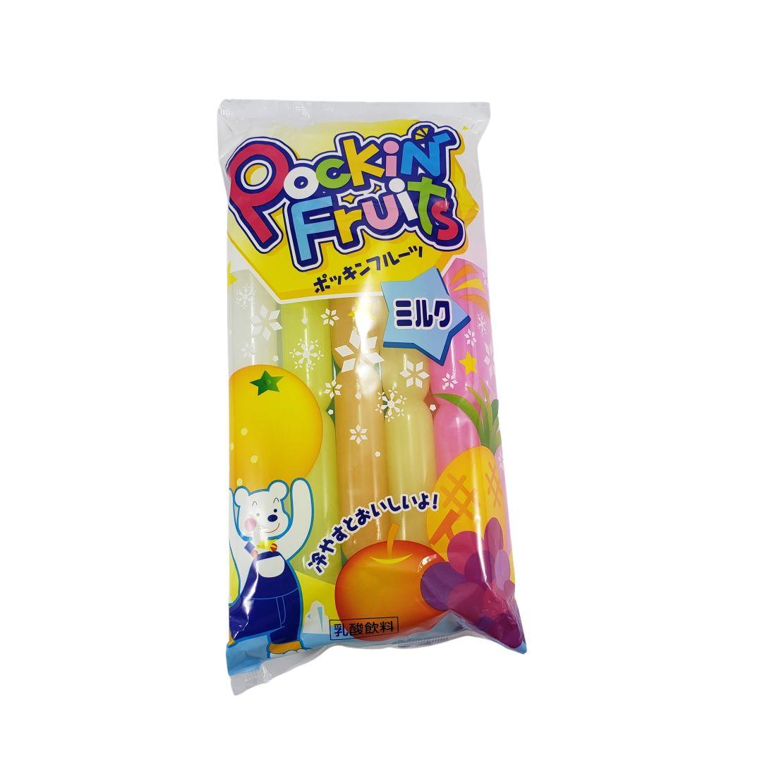 Geladinho sabor Frutas com Leite  Japonês Pockin Fruits Milk Marugo 600ml