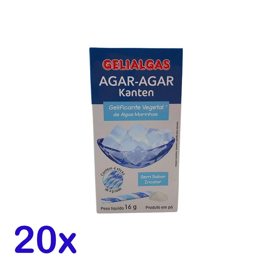 Gelatina De Algas Kanten Agar Agar Gelialgas 16g Kit 20 unidades