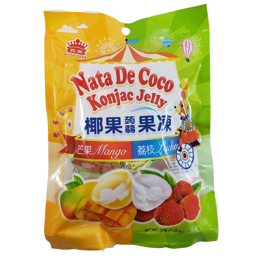 Gelatina de Coco sabor Lichia e Manga I-Mei Foods 318g