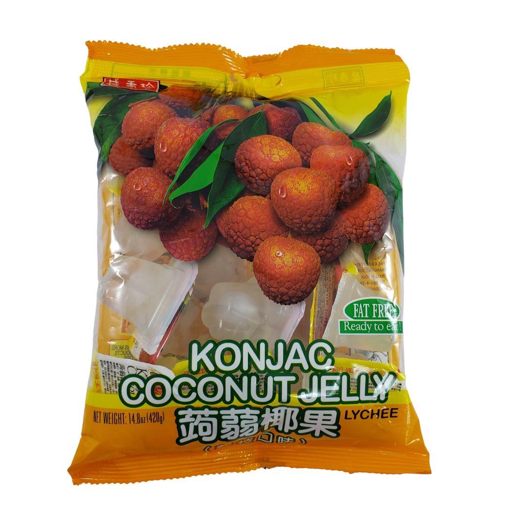 Gelatina de Coco sabor Lichia Triko Foods 420g