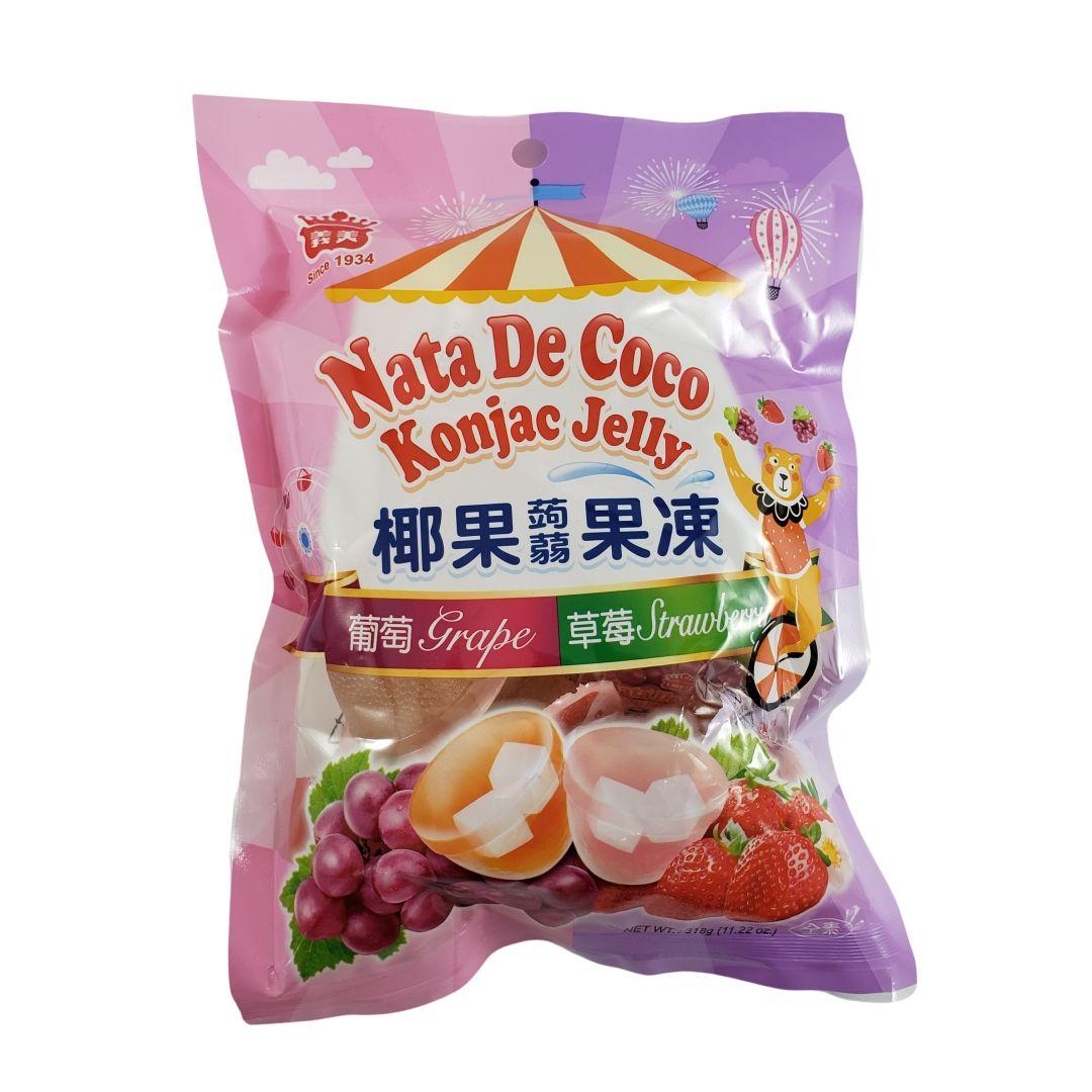 Gelatina de Coco sabor Uva e Morango I-Mei Foods 318g