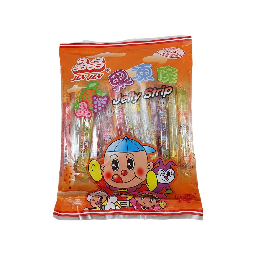Gelatina de Frutas Jelly Strip Jin Jin 470g